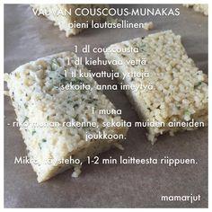 Vauvan couscous-munakas | Simppeli sormiruokakeittiö