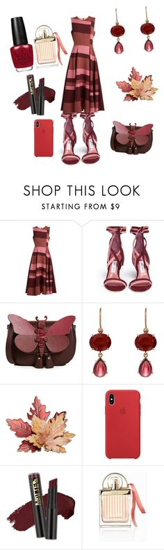 """""""Untitled #1530"""" by shannongarner ❤ liked on Polyvore featuring Roksanda, Jimmy Choo, Anya Hindmarch, Irene Neuwirth, L.A. Girl and Chloé"""