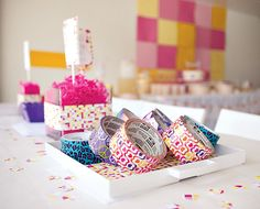 Pink  Yellow Modern Spa Party {Girls Birthday}