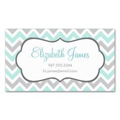 Mint and Gray Colorful Chevron Stripes Double-Sided Standard Business Cards (Pack Of 100). This is a fully customizable business card and available on several paper types for your needs. You can upload your own image or use the image as is. Just click this template to get started!