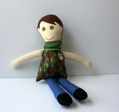 The Sweetest Little Fabric Doll by birdslovebees on Etsy