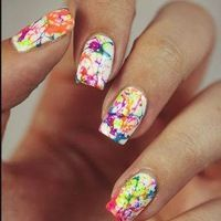 Best Nail Art Tools Every Nail Polish Lover Needs Neon Nail Art, Pink Nail Art, Trendy Nail Art, Neon Nails, Summer Acrylic Nails, Cute Acrylic Nails, Cute Nails, Splatter Nails, Gel Nagel Design