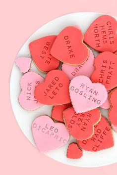 Happy Valentine's Day! Celebrity Heartthrob Cookies!