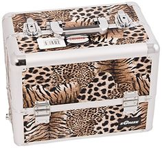 Craft Accents 6-Tiers Extendable Tray Professional Aluminum Cosmetic Makeup Case, Brown Leopard, 176 Ounce *** To view further for this item, visit the image link.