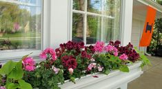 """We got the window boxes planted yesterday.   When I say """"we"""", I mean the the royal """" we""""  because every year for Mother's Day,  Mr..."""