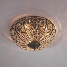 Regal Vintage Crystal Ceiling Light - Small