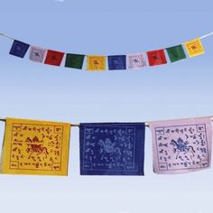 Gebedsvlaggen Koord met 5 gebedsvlaggen (10 stuks) -