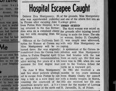 Hospital Escapee Caught-Delores Eva Montgomery, 28