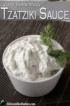 sauce works great as a dip with pita bread and is also awesome used in sandwiches or wraps!Tzatziki sauce works great as a dip with pita bread and is also awesome used in sandwiches or wraps! Homemade Tzatziki Sauce, Homemade Sauce, Greek Sauce Tzatziki, Greek Taziki Sauce, Greek Cucumber Sauce, Tzatziki Sauce Recipe Greek Yogurt, Greek Tzatziki Recipe, Think Food, Love Food