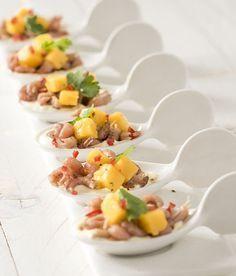 Gezonde amuse met garnalen. Deze amuse staat binnen 10 minuten op tafel, is lekker en gezond! Maak een amuse om alvast te serveren aan je gasten!
