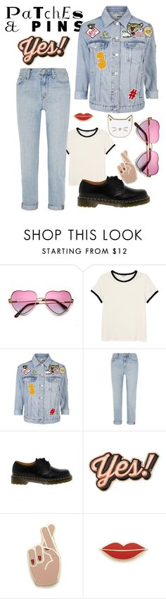"""Patch It, Pin It, Perfect !"" by laurx-cth ❤ liked on Polyvore featuring Monki, Topshop, Madewell, Dr. Martens, Anya Hindmarch, Georgia Perry, Des Petits Hauts and patchesandpins"