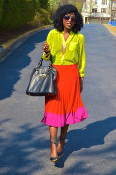 ::colorblocking:: I so love this combination of orange and pink.