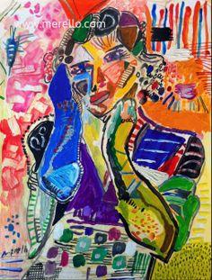 "I N S P I R A T I O N   Jose Manuel Merello.-  ""Inspiration""  Mix media   Artistas espanoles actuales. Arte moderno siglo XXI. http://www.merello.com"