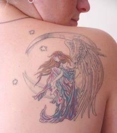 Nene Thomas Angel Moondreamer Tattoo for my Mom and babies