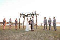 outside wedding ceremony - Winfrey Point @ White Rock ( Dallas )