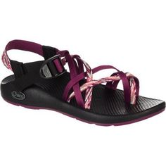 Chaco ZX/2 Yampa Sandal - Women's Chaco. $68.95. Custom Adjust'em fit. 2-3 mm water ready surface contact lugs. synthetic. vibram sole. Polyester jacquard webbing upper. LUVSEAT™ footbed. Non-marking sole
