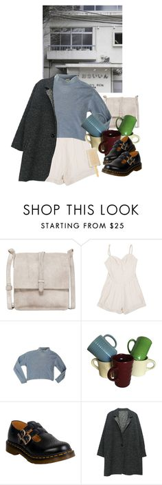 """idk"" by paper-freckles ❤ liked on Polyvore featuring Cynthia Vincent, Lover and Dr. Martens"