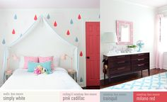 Girls room makeover (click for paint colors and sources)