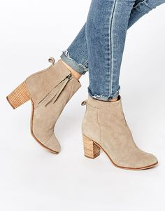 Image 1 of TOMS Taupe Suede Ankle Boots