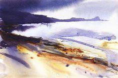 Landscape Paintings and photographs : Looking towards Worm Head heavy rain. | Original Art Under 100