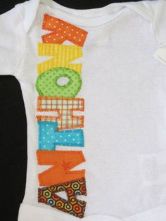 Baby boy onesie with custom name Baby by FiestaKidsBoutique, $18.50