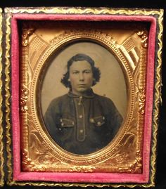 Antique Tintype Photo Soldier Gold Miner Odd Button Shirt Civil War Era Mat | eBay