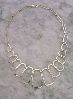 Necklaces & Pendants Mid-cemtury Mcm 925 Sterling Silver-hand Hammered Choker-collar Necklace Terrific Value Retro, Vintage 1930s-1980s