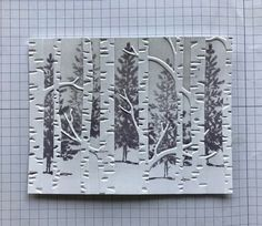 How-to put puctures behind embossing - Ramblin' Stamper: Embossing Folder Technique - Quick & Easy Christmas Card! Homemade Christmas Cards, Christmas Cards To Make, Xmas Cards, Simple Christmas, Homemade Cards, Christmas Tree, Handmade Christmas, Woodland Christmas, Crochet Christmas
