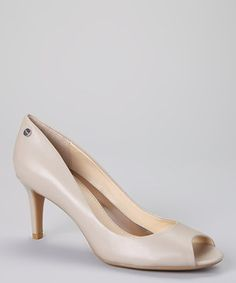 This Calvin Klein Oatmeal Patent Leather Kasia Pump by Calvin Klein is perfect! #zulilyfinds
