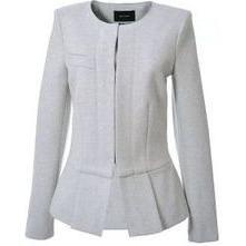Isabel Marant Fantasy Peplum Jacket Double Flannel as seen on Rosie Huntington-Whiteley