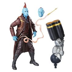 Marvel Guardians of the Galaxy 6-inch Legends Series Yondu. Comic-inspired design and premium articulation. Includes Marvel's Titus Build-a-Figure piece. Collect other Marvel Legends Series figures (each sold separately). Action figure size: 6 inches. Includes figure, 2 accessories, and Build-a-Figure part.