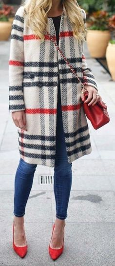 street, style, plaid, coat, chic, outfits, wear, fall