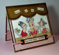 Gossip Club from Art Impressions Rubber Stamps girlfriends card