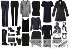 What to Wear to Paris - Wardrobe Oxygen - actually a good rep of any basic wardrobe. If you have these in neutral colours you can add fashion trends with accessories or cheap tops & blouses. Choose the neutral colours that work best for your lifestyle, white, black, navy, cream, taupe, nude, or shades of brown.