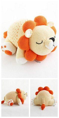 Amigurumi Lion Free Pattern – Free Amigurumi Patterns and knitting knit knitting crochet diy Crochet Pattern Free, Crochet Lion, Crochet Animals, Crochet Toys, Crochet Crafts, Knit Crochet, Easy Knitting Projects, Easy Knitting Patterns, Crochet Projects