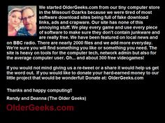 OlderGeeks(dot)com needs your help to make it through March. Donate at: oldergeeks.com Monthly op. costs=$480 March donations=$43