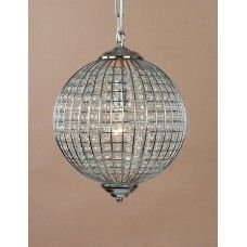 CHROME GLOBE CHANDELIER MED