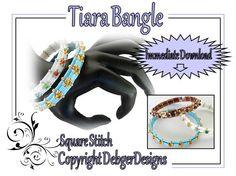 Tiara Tila Bangle   Beading Pattern Tutorial by DebgerDesigns, $6.50