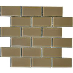 @Overstock - These glass tiles feature a bright glass on tile construction and are perfect for use in your home's interior. This case includes 11 pieces that cover 11 square feet.http://www.overstock.com/Home-Garden/Brown-Sugar-2x4-inch-Shiny-Glass-Tiles-Pack-of-11/6133498/product.html?CID=214117 $103.99