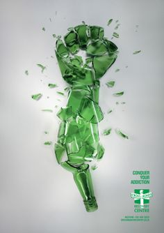 Victory Over Alcoholism Poster by Christo Krüger, via Behance