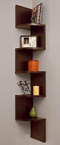 Corner Zig Zag Wall Shelf //