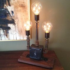 Hey, I found this really awesome Etsy listing at http://www.etsy.com/listing/170186112/rustic-pipe-lamp-industrial-table-lamp