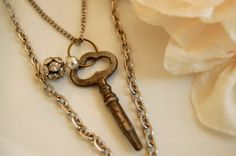 Key to My Heart Necklace by PoppiLinnStudios on Etsy, $40.00