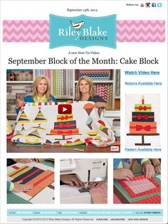 Riley Blake Designs Blog: Cake Block Tutorial #rileyblakedesigns #blockofthemonth #cakeblock