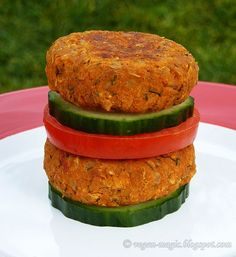 Chickpea Walnut Patties - I know what's for lunch tomorrow. Vegan.