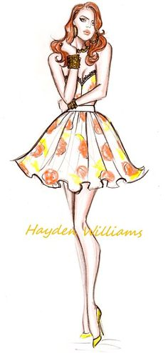 Lana Del Rey fashion illustration by Hayden Williams