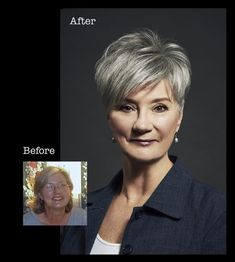 Pin On Over 50 Pin On Over 50 - Hair Beauty - maallure Short Thin Hair, Short Grey Hair, Short Hair Cuts For Women, Short Hairstyles For Women, Thin Hairstyles, Hair Styles 2016, Medium Hair Styles, Curly Hair Styles, Before After Hair