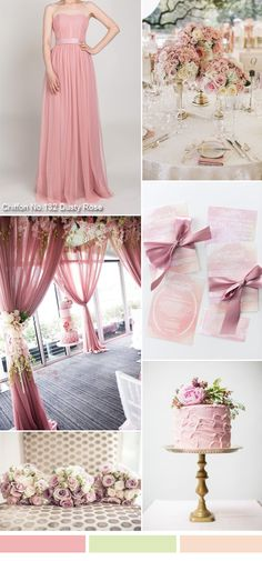 TBQP315 dusty rose wedding decor ideas with dusty rose pink tulle bridesmaid dress