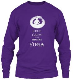 Yoga For Everyday. Purple Long Sleeve T-Shirt Front