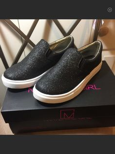 d76ed733fbd1 My Material Girl Black Sparkle Sneakers New W/O Box Size 7 by MATERIAL GIRL